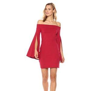 BLACK kaelea off the shoulder dress